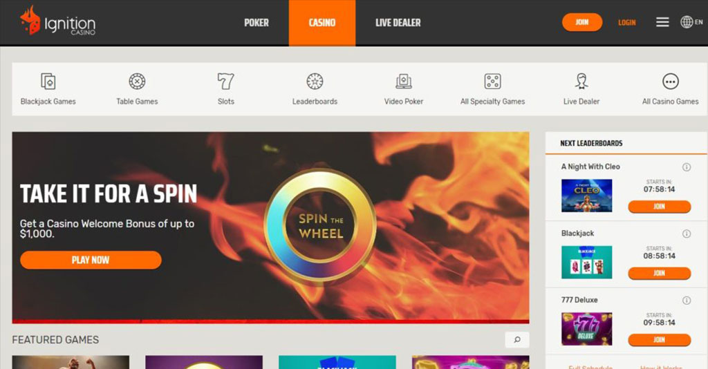 Ignition Casino Bonus Funds